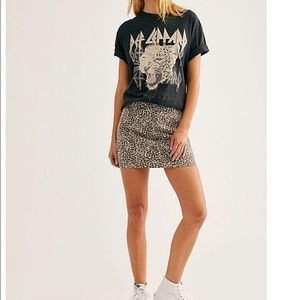 Free People Modern Femme Cheetah Skirt